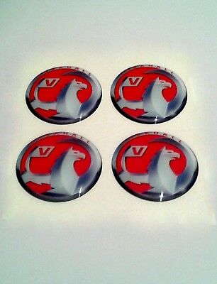 VAUXHALL Wheel Center Hub Caps Silicone Badge Emblem Stickers 4x58mm