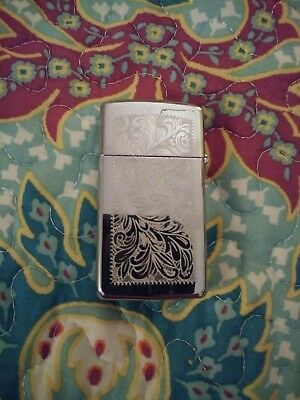"Zippo Windproof Brass Lighter With ""M"" engraved New In Box"