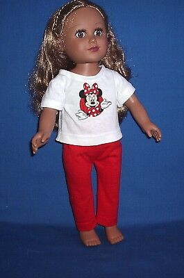 "Handmade Minnie Mouse Outfit for 18"" Doll - fits American Girl - Made in America"