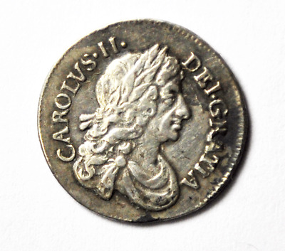 1678 Great Britain 2 Two Pence Groat Silver Coin Rare KM# 429