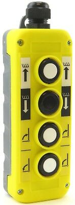 YC-4B-UDRL Hoist Crane Pendant Control Station Switch 4-Button Up-Down-Right-L