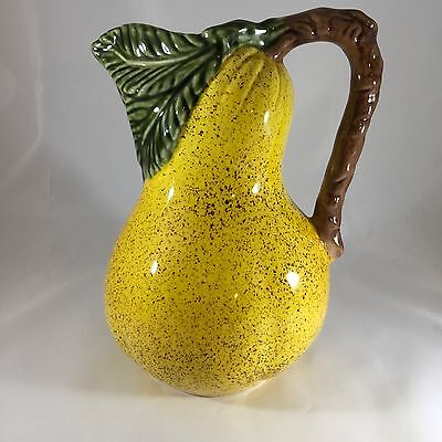 Yellow Pear Water Pitcher Made In Portugal