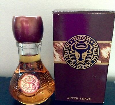 Vintage Avon Wild Country Musk After Shave NEW NOS 4 FL OZ W box Grt Gift!
