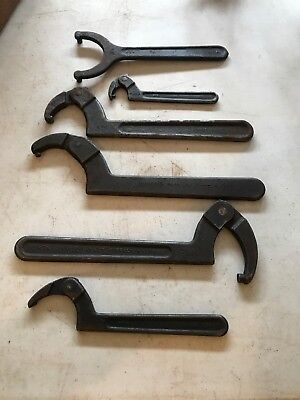 Fairmount Williams Wright Adjustable Pin Spanner Wrench Lot Various Sizes  USA