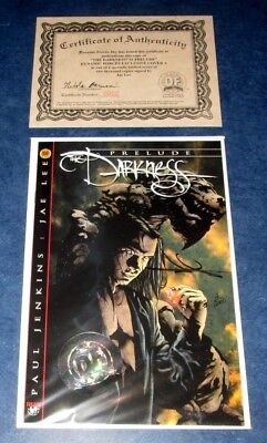 the DARKNESS PRELUDE #1 signed DF variant JAE LEE 2/2000 COA NM TOP COW movie op