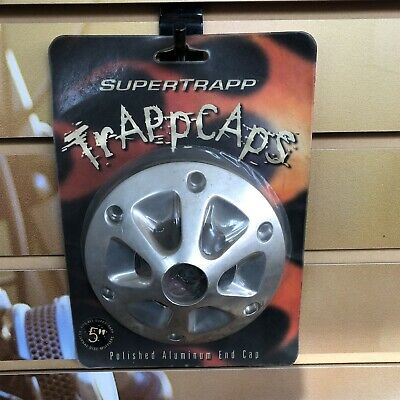 """SuperTrapp Polished Aluminum End Cap Trappcaps for 5"""" Mufflers"""