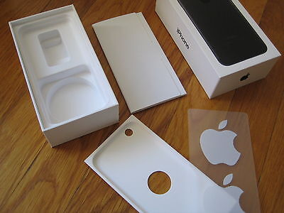 Apple iPhone 7 Empty BOX & INSTRUCTIONS ONLY no phone - 32gb black plus stickers