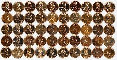 1961 Lincoln Memorial Cent Penny 1C Gem Pf Proof Roll 50 Coins