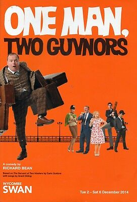 One Man, Two Guvnors Theatre Programme Wycombe Swan Richard Bean Goldoni 2014