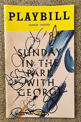 Sunday in the Park with George cast signed playbill - Broadway Jake Gyllenhaal