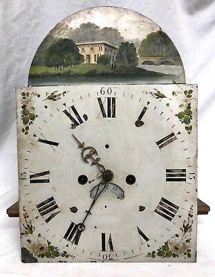 Antique 8 Day Longcase Grandfather Clock Arch Dial and Movement  REF TD 01