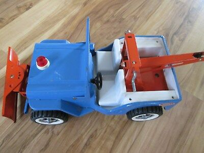 Old Tonka Jeep Wrecker With Blade Good Color
