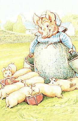 (P135x) Postcard Beatrix Potter The Tale of Pigling Bland