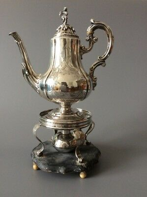 French Emile Hugo Solid 950 Sterling Silver Hot Water Teapot / Cafetière