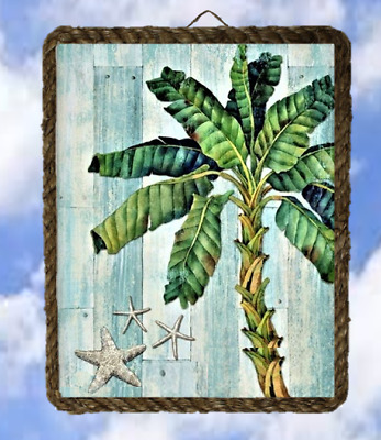 Tropical 69 Banana Tree Ocean Beach Wall Decor Art Coastal lalarry Ventage