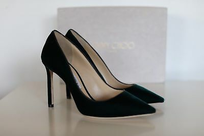 26d9324f98c New Auth Jimmy Choo Romy Green Velvet Pointy Pumps Heels Shoes 9.5 us   39.5