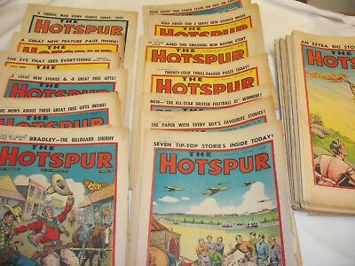 47 Vintage Hotspur Comics Dated 1957 (From Feb 9th - Dec 28th)