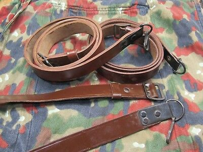 Romanian Leather Sling for 7.62x39 5.45 SKS, and other rifles, VG/NEW CONDITION