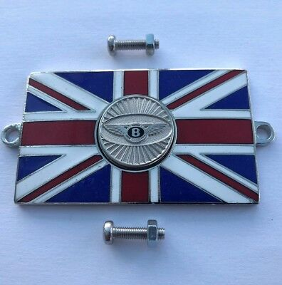 Auto Mascot Badges & Mascots British Union Jack Flag Enamel Kings Crown Classic Car Badge