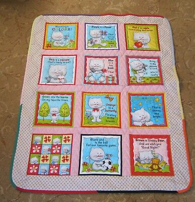 Baby cot quilt - Kittens. Hand crafted baby bedding 100% cotton