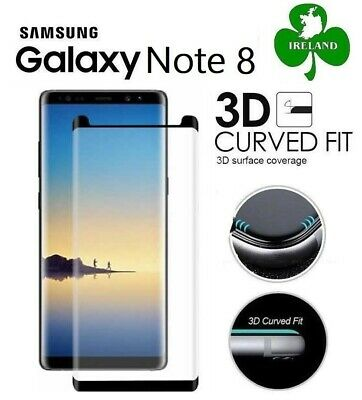 Tempered Glass Screen Protector for Samsung Galaxy Note 8 Curved Full Cover 3D