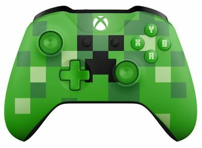 Microsoft WL3-00056 Xbox One Wireless Controller Minecraft Creeper Edition