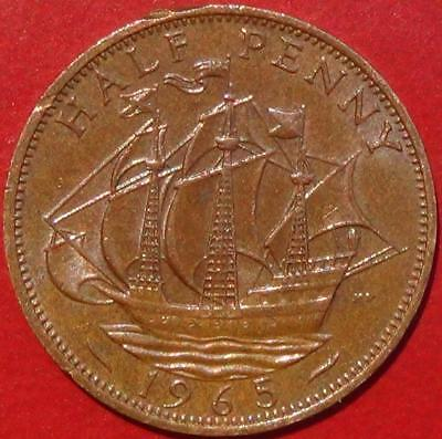 1965 English Half Penny (England, Great Britain, United Kingdom)