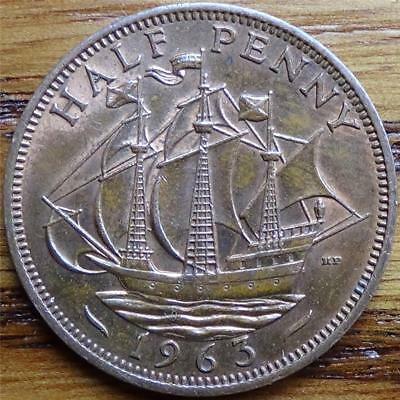 1963 English Half Penny (England, Great Britain, United Kingdom)