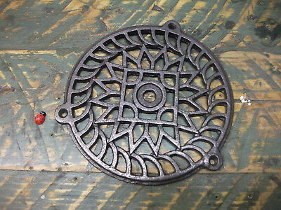 "GRILLE COVER 6"" 1/8 or 150mm Medium ROUND CAST IRON AIR VENT - AIR BRICK -"