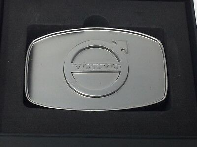 New Volvo Iron Mark Belt Buckle Silver Zink Alloy With Gift Box