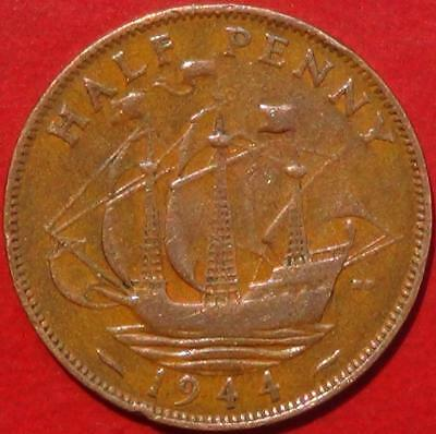 1944 English Half Penny (England, Great Britain, United Kingdom)