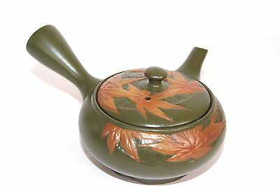 Vintage Bamboo Tea House Tokoname Ware Japanese Tea Pot Kettle Hand Made Stamp