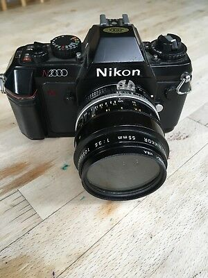 Nikon N2000 35-70mm Camera With NIKKOR Lens 55mm 1:35