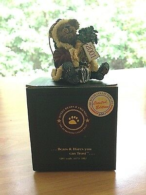 Boyds Bears Mr. Baybeary...2001 Wishes Limited Edition Christmas Teddy Ornament