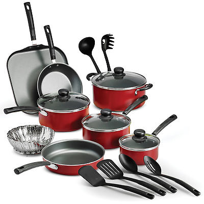 Nonstick Cookware Set Pots And Pans Kitchen Utensil 18-Pcs