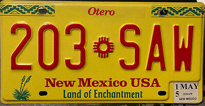 2015 New Mexico passenger car license plate