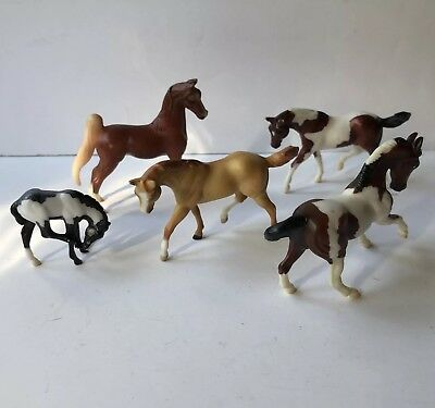 1999 Breyer Stablemates Lot Of 5 Retired Model Horses Reeves