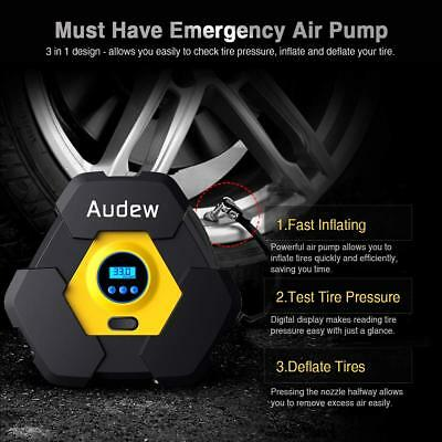 Audew Portable Air Compressor Pump, Auto Digital Tire Inflator, 12V 150 PSI Tire