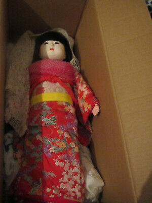 """20"""" Vintage China  Bridal Doll With Stand"""