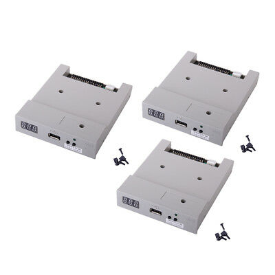 Premium 3x 3.5'' 720KB USB Floppy Drive ABS Housing for Industry Machine