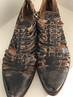 8b5709caae3a BED STU Las Cruces US 8  EU 38 Women s Leather Huaraches Taupe Rustic NEW