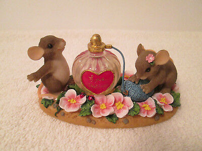 """Charming Tails """"i'm Under Your Spell"""" Mouse Figurine Perfume"""