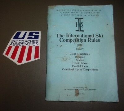 1983- The International Ski Competitional Rules- (1CR) Book IV- 34th Sydney