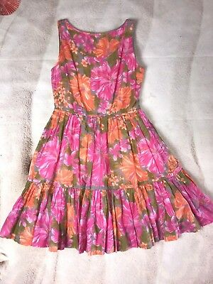 035c015e50 Tracy Feith for Target Junior s Floral Tropical Dress - Sz 9 - Orange Pink  Layer