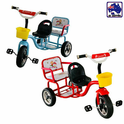 Kids Tricycle Tandem Push Trike Bike Toddler Children Ride on Toy 3Wheel BTR0030