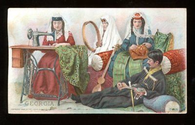 1894  Singer Trade card  Georgia Traditional Costumes