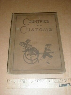 Countries and Customs Childs old book 1921 China Chinese Eskimo Indian Japanese