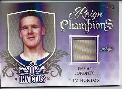 2017-18  Leaf Invictus Tim Horton Reign Of Champions Game Jersey Card 3/3