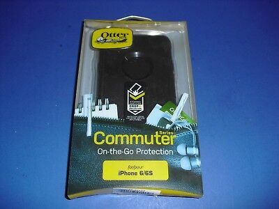 Genuine All Black Otter Commuter Series NEW for Apple iPhone 6 & 6S!