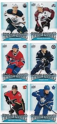 2018-19 Upper Deck Tim Hortons Clear Cut Phenoms U pick  FREE Combines S/H